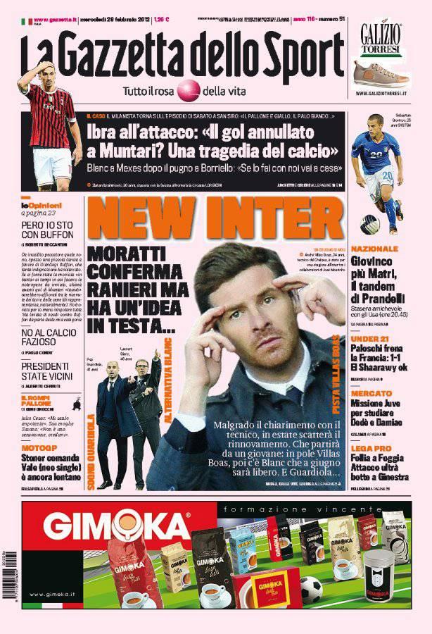 Gazzetta Dello Sport New Inter Calciomercatoweb It News Di Calciomercato