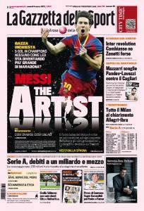 gazzetta1 204x300 La Gazzetta dello Sport / Messi the artist