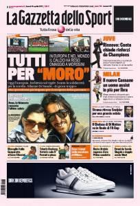 gazzetta3 204x300 La Gazzetta dello Sport / Tutti per Moro