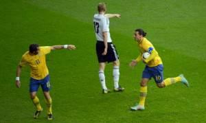 154233413 300x179 VIDEO Svezia Inghilterra 4 2/ Splendido poker di Ibra (rovesciata, punizione...): tutti i gol
