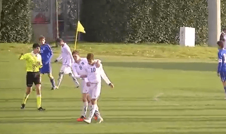 This Boys Special: AC Milans 14 year old Hachim Mastour scores on his Italy U15 debut