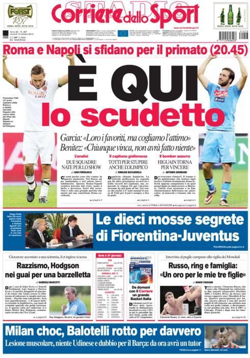 Corriere Dello Sport E Qui Lo Scudetto Calciomercatoweb It News Di Calciomercato