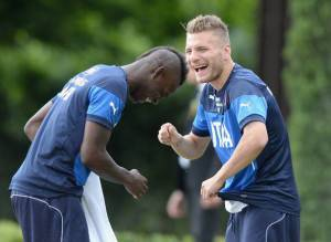 Balotelli con Immobile (Getty Images)
