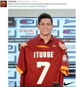 Iturbe (Twitter AsRoma)