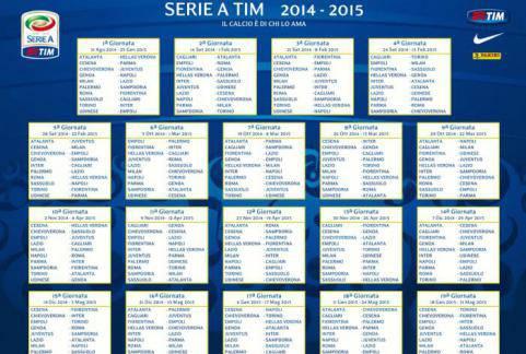 Serie A Calendario Completo.Calendario Serie A Completo Finale Con Lazio Roma E Juve Napoli