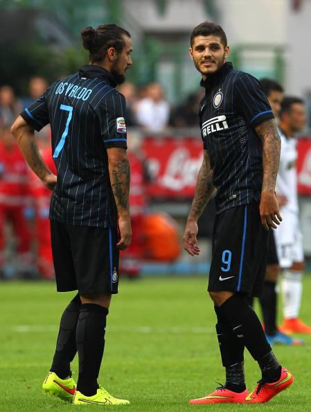 Osvaldo e Icardi (Getty Images)