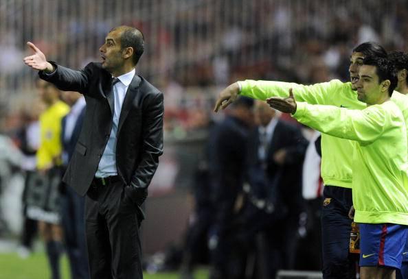 Xavi e Guardiola al Barcellona (Getty Images)