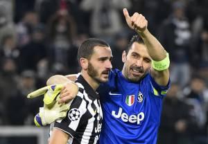 Bonucci e Buffon (Getty Images)
