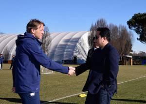 Mancini e Thohir (Getty Images)