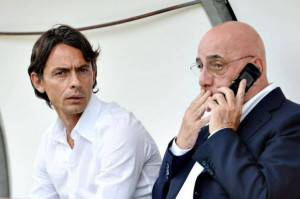 Inzaghi e Galliani (Getty Images)