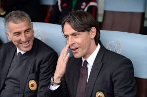 Inzaghi e Tassotti (Getty Images)