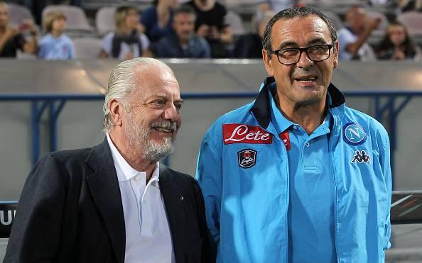 Sarri resta al Napoli, De Laurentis gli rinnova il contratto