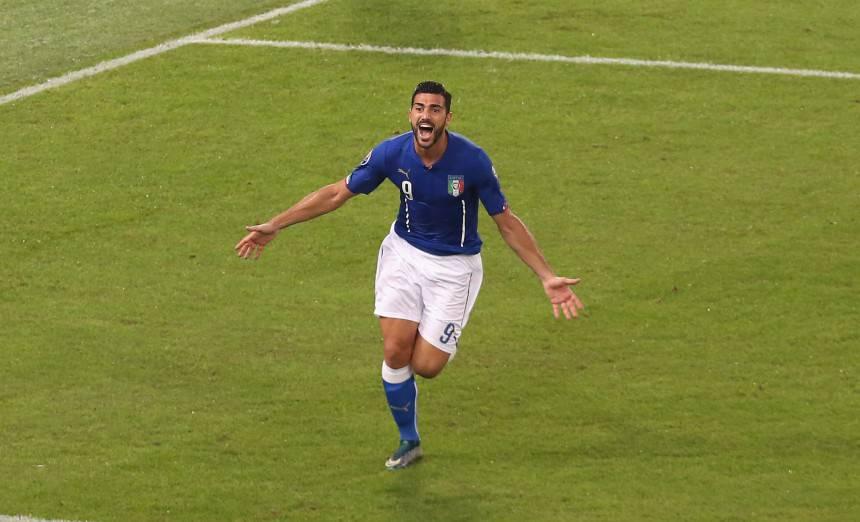 Italia, Graziano Pellè si ferma in allenamento