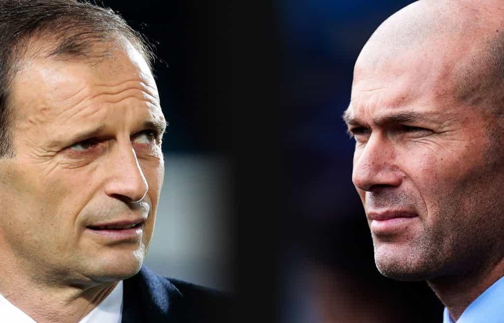 Calciomercato Juventus Allegri Real Madrid Zidane