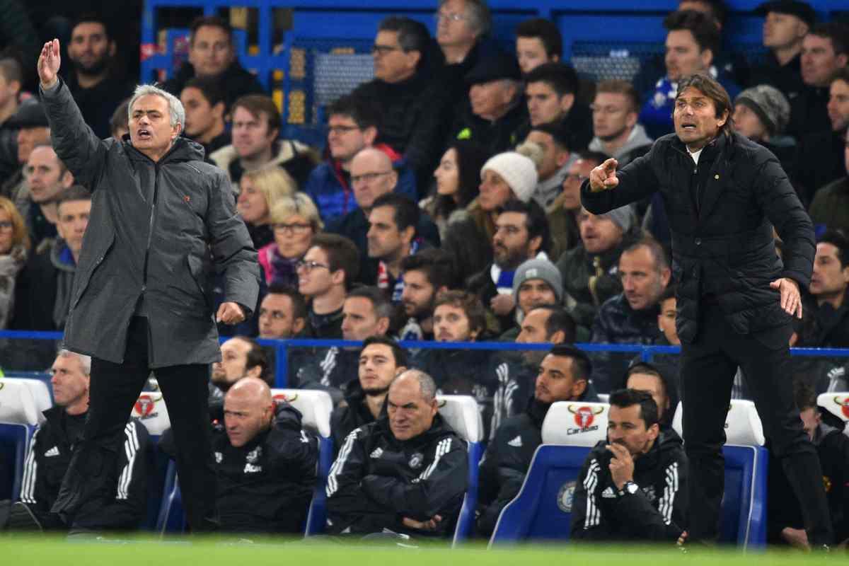 Mourinho e Conte calciomercato roma allenatore panchina