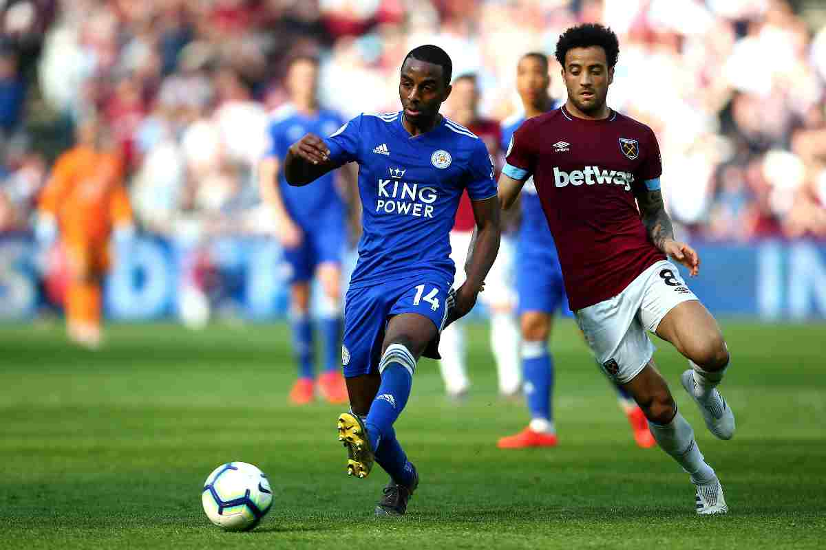 Ricardo Pereira e Felipe Anderson in Leicester West Ham