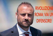 Rivoluzione Roma: via un difensore!