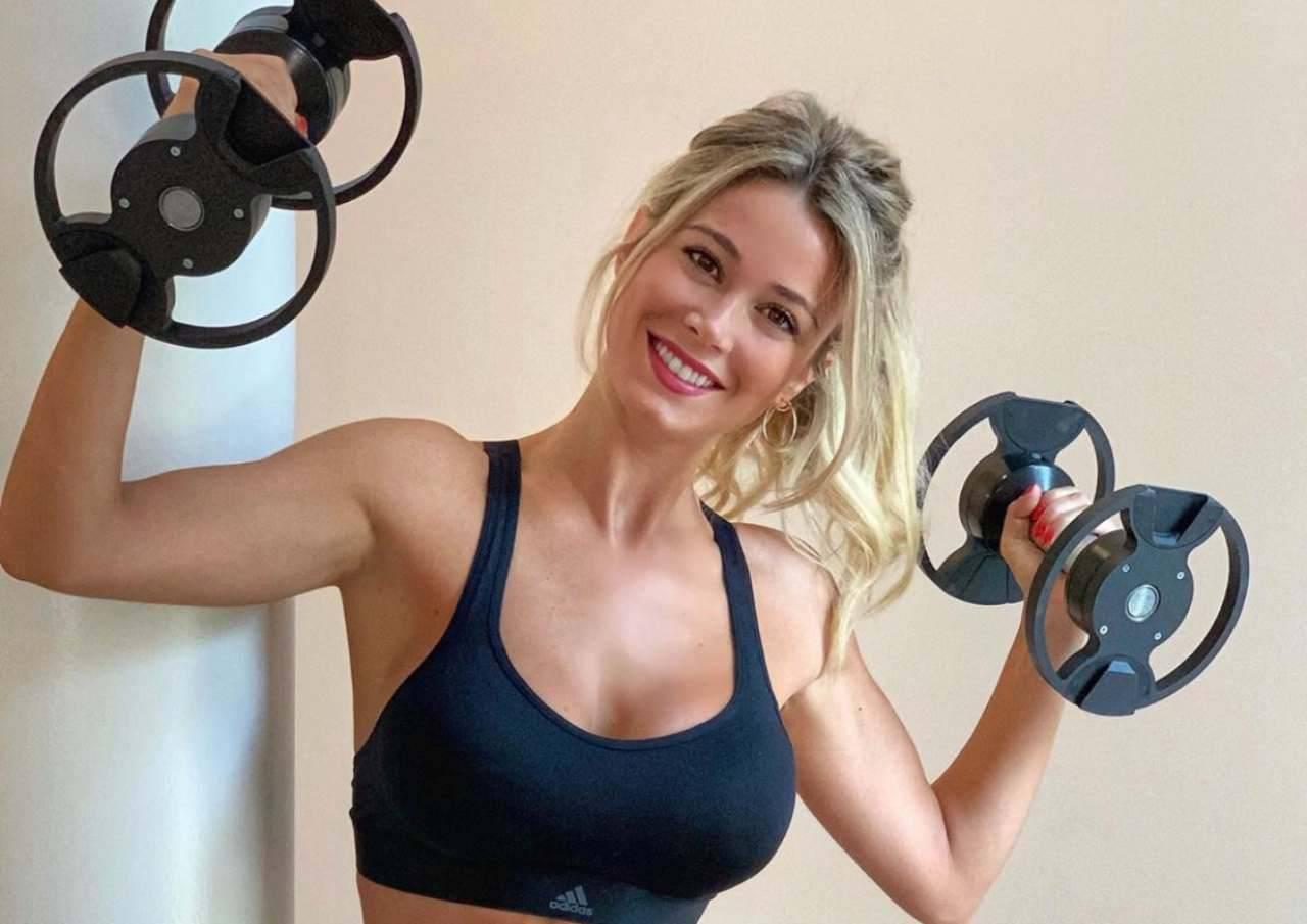 Diletta Leotta Palestra allenamento