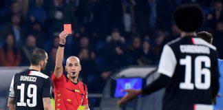 Lazio Juventus espulsione Cuadrado arbitro Fabbri Polemica VAR
