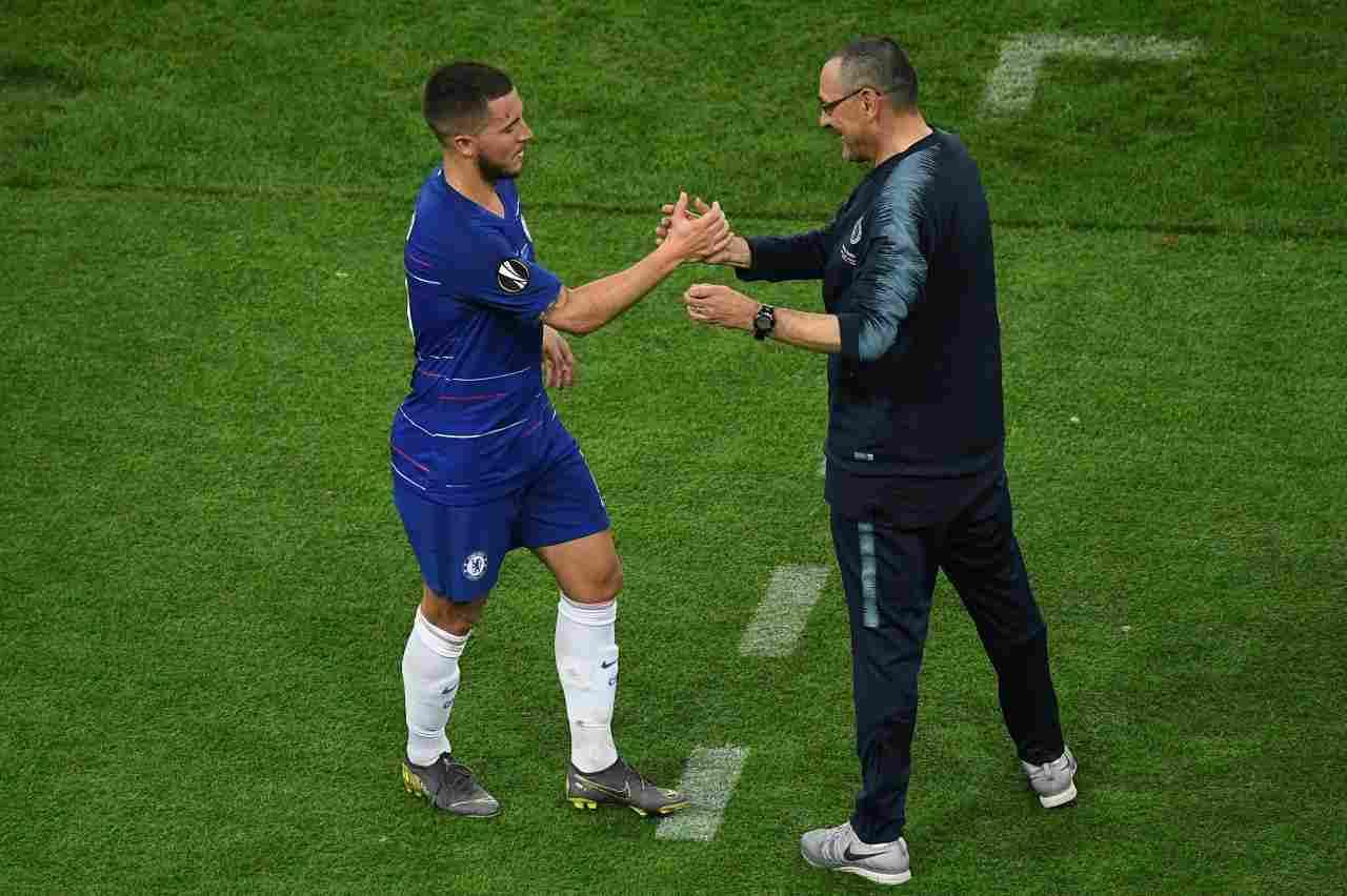 Calciomercato Juventus, sogno Hazard come trequartista: di nuovo con Sarri dopo il Chelsea