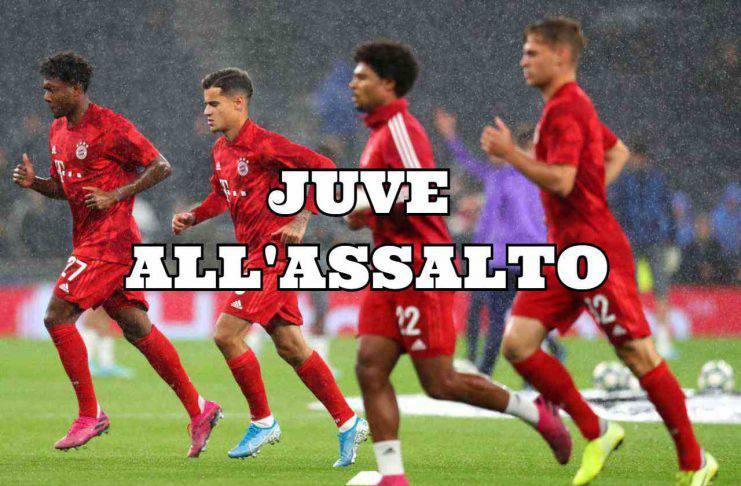 Alaba, Coutinho, Gnabry e Kimmich Calciomercato Juventus