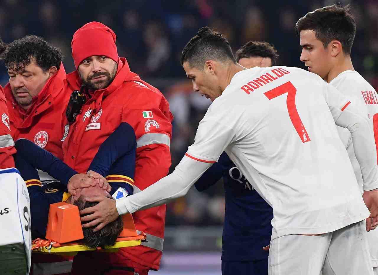Juventus Roma Zaniolo infortunio