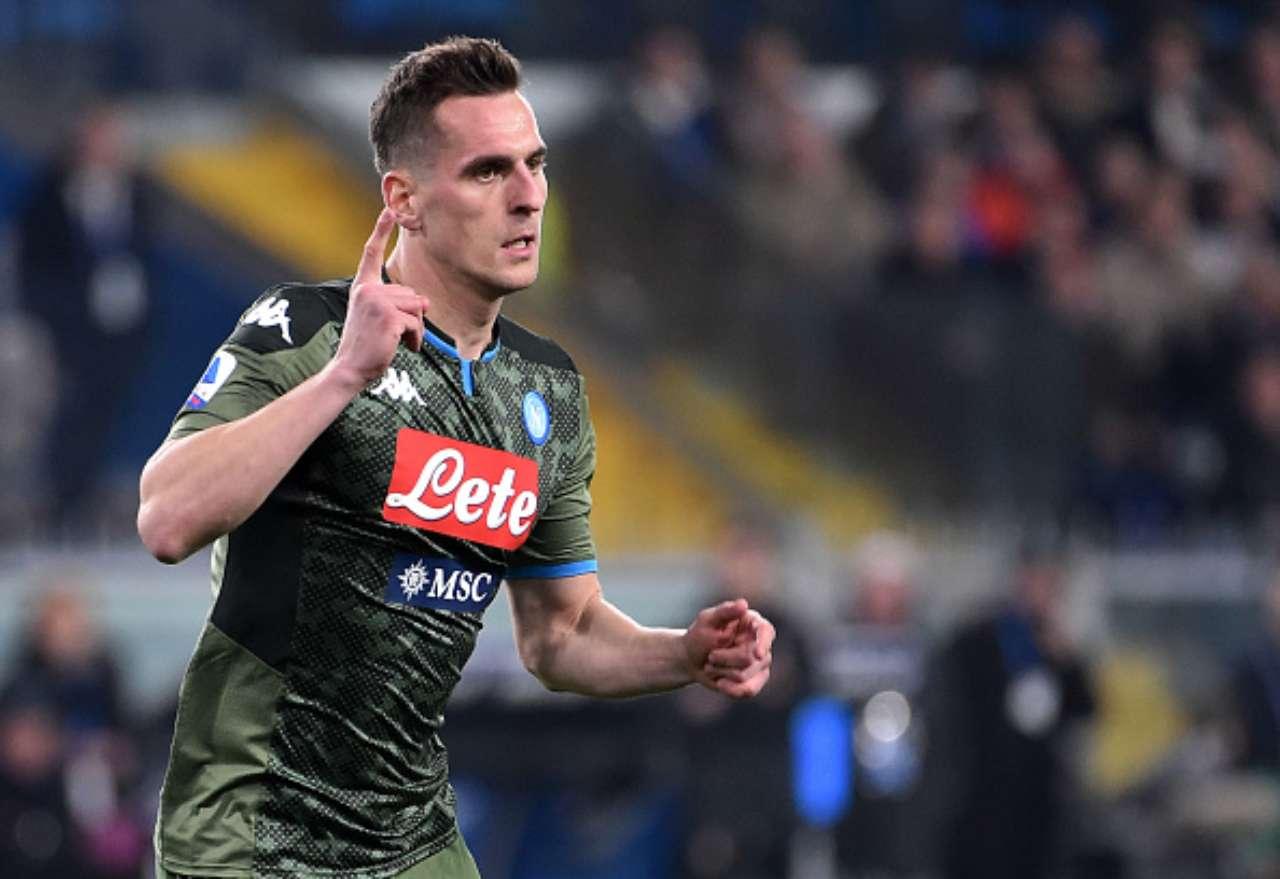 Calciomercato Milan Milik Napoli Kessie