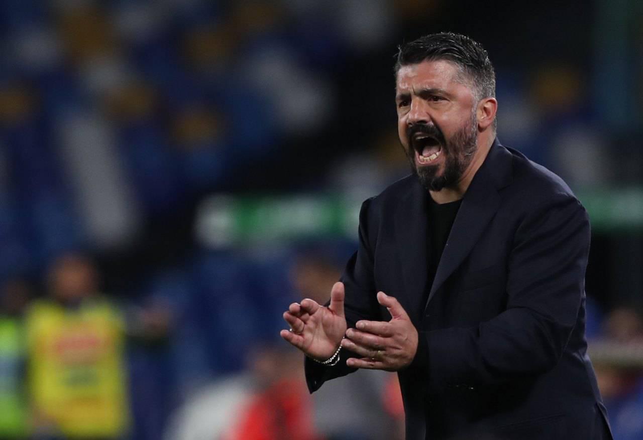 Gattuso Napoli Milan Milik