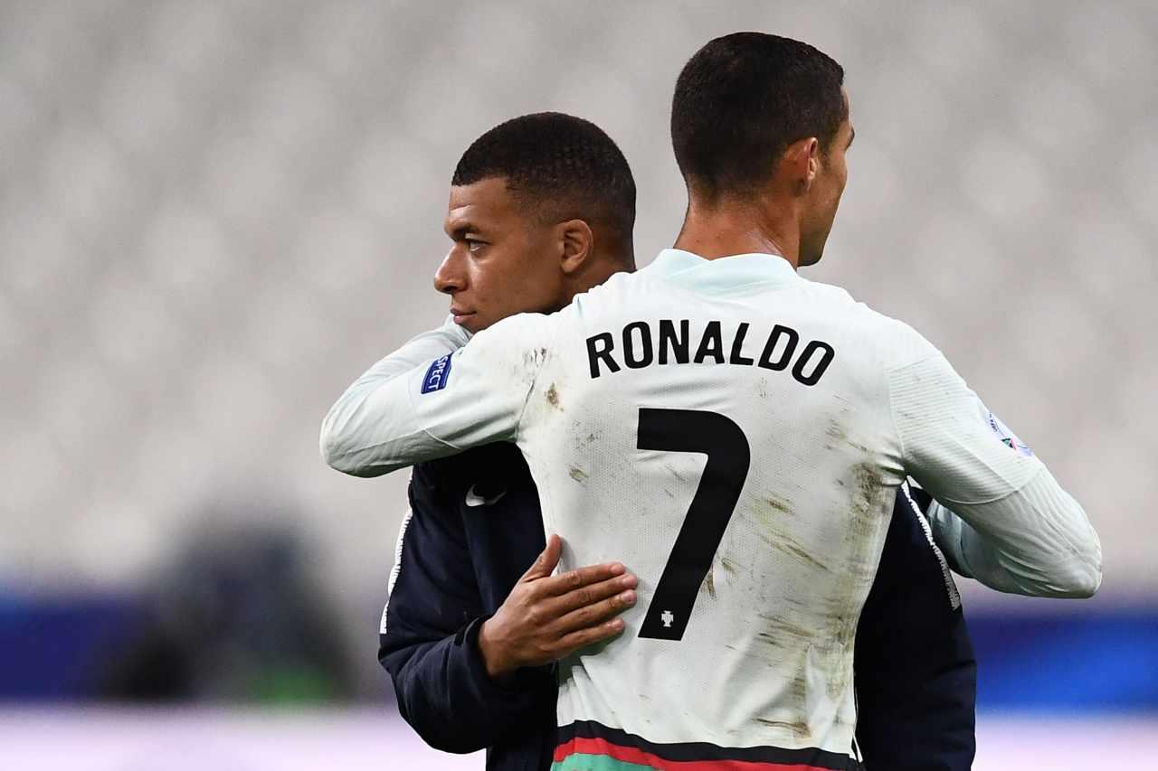 Cristiano Ronaldo e Kylian Mbappe