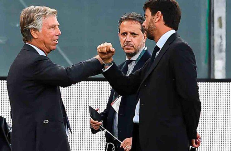 Preziosi Agnelli Paratici Genoa Juventus calciomercato