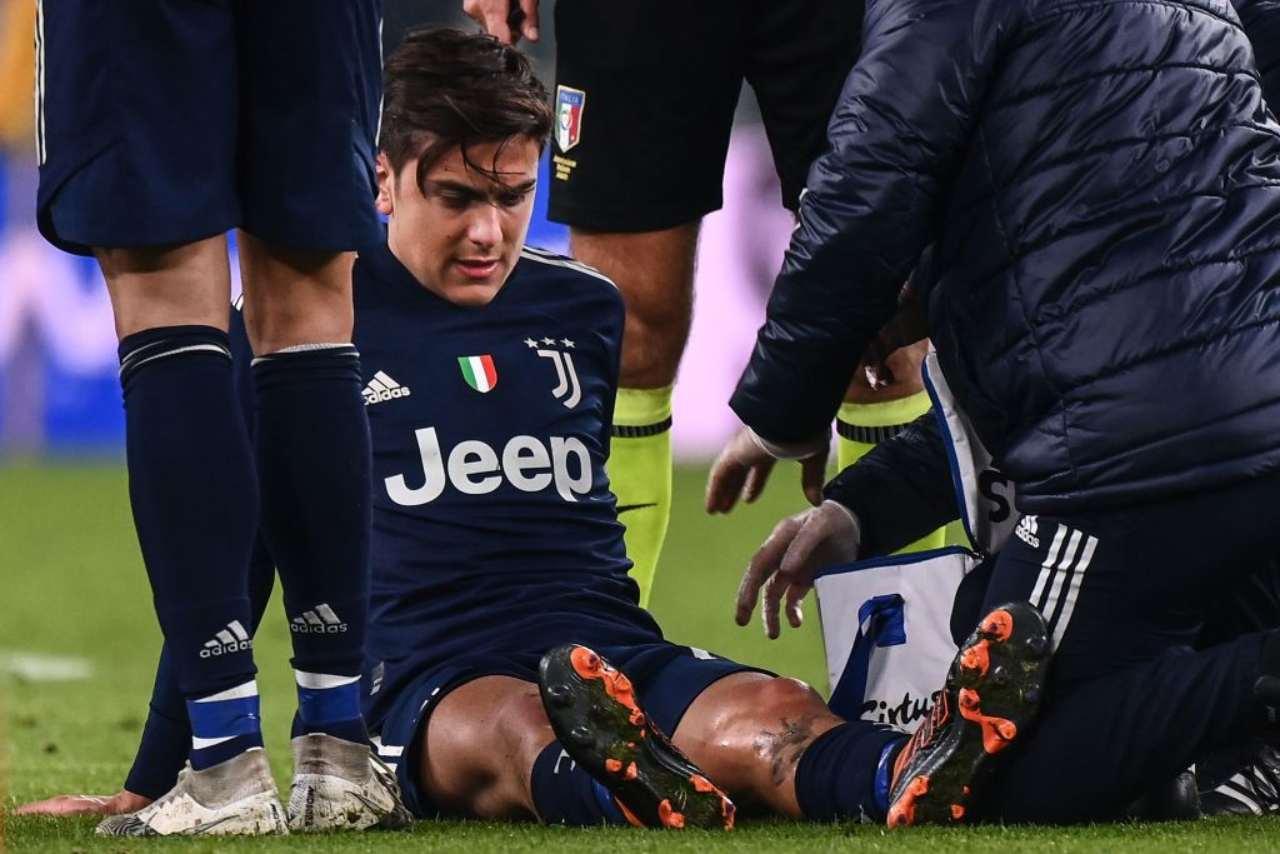 Juventus, infortunio Dybala | Tempi più lunghi del previsto: focus infortuni