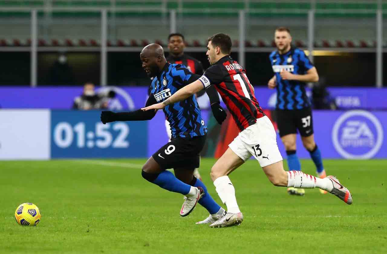 Lukaku e Romagnoli derby