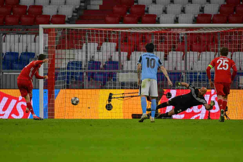 Bayern Monaco Lazio Robert Lewandowski rigore