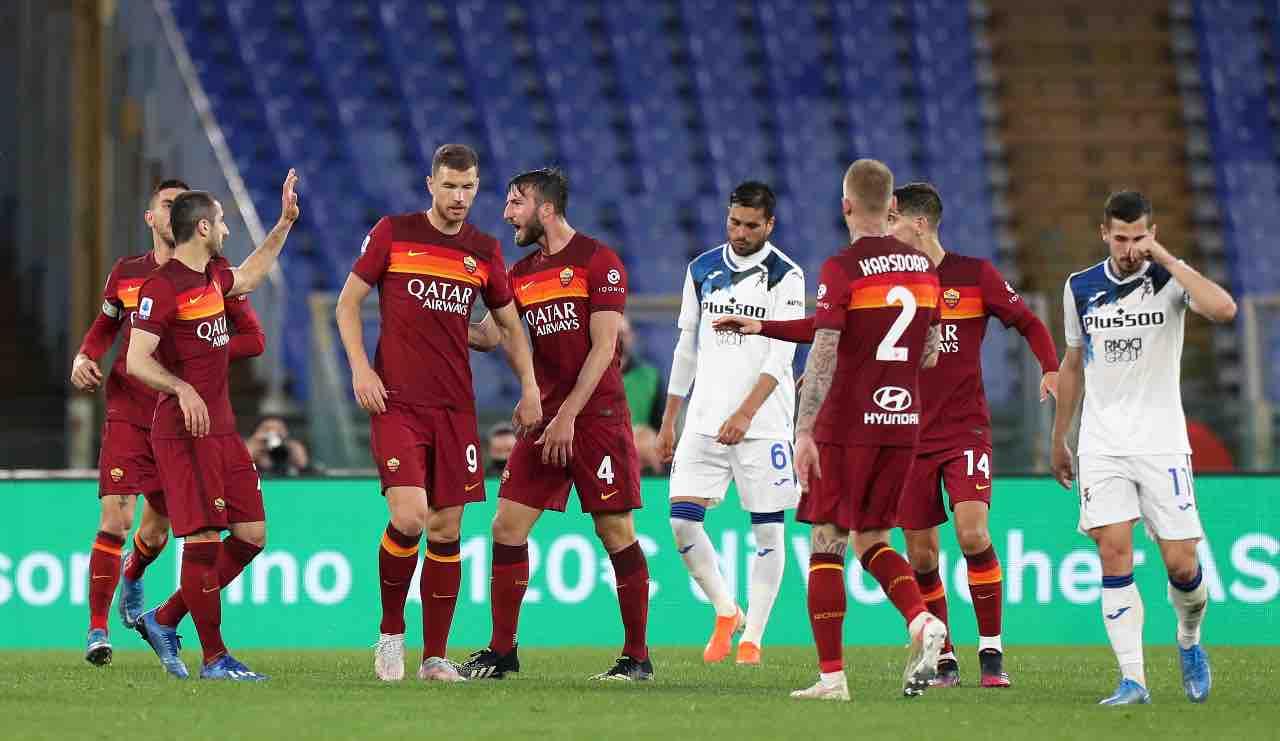 Roma Atalanta gol Cristante