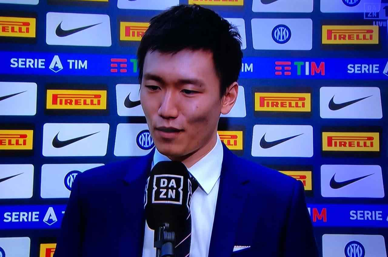 Inter, le parole di Zhang dopo la premiazione   Il momento decisivo