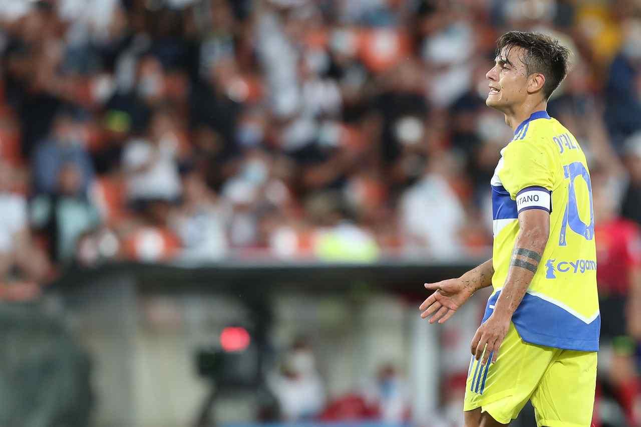 Juventus Dybala Morata infortunio Chelsea