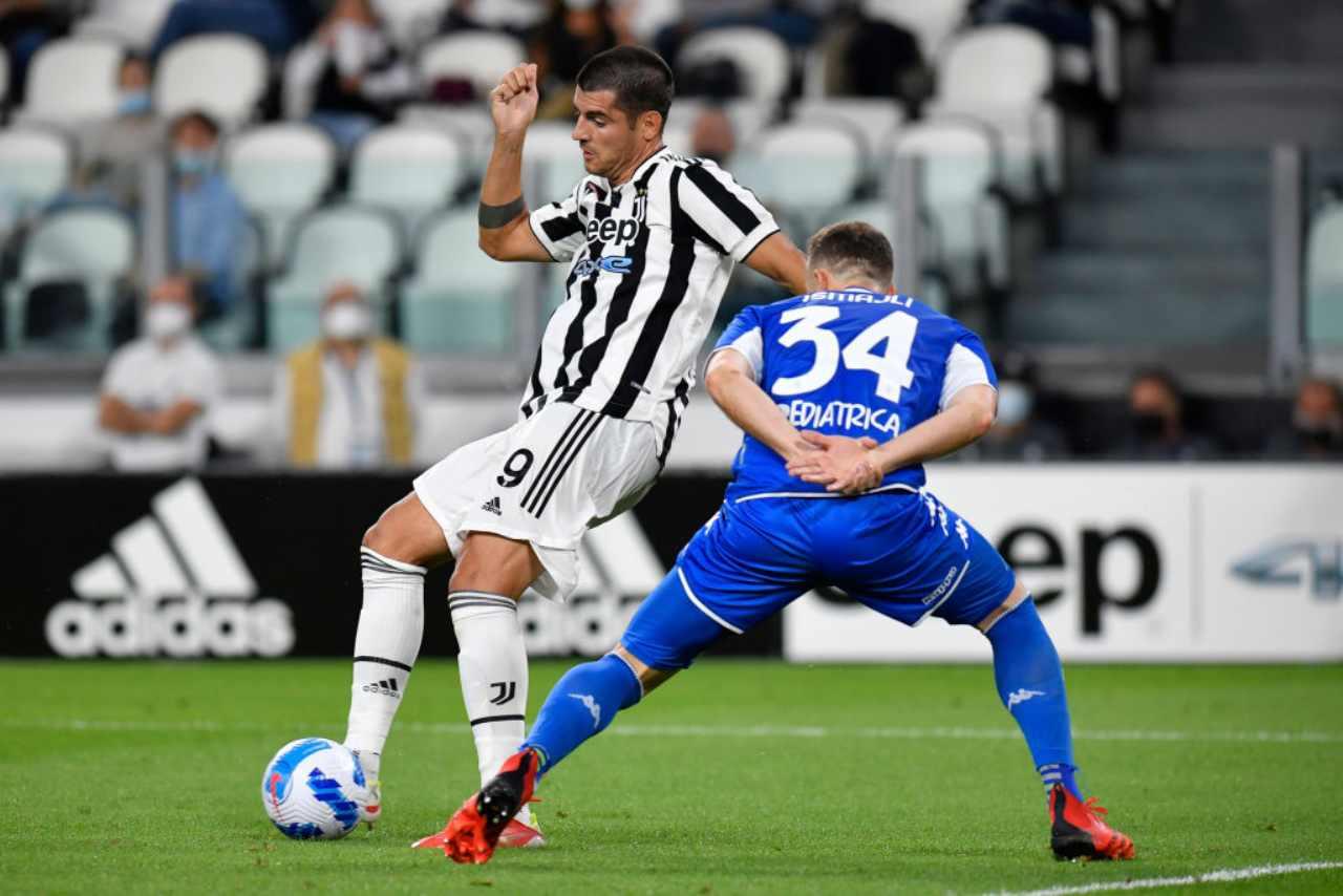 Juventus, Morata in azione