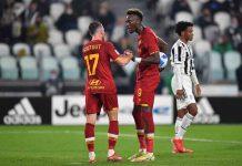 Juventus-Roma, contesa tra Abraham e Veretout: la ricostruzione